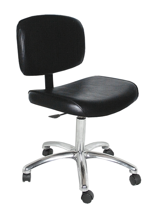 1860 QSE Manicure Stool with Casters and Gas Lift