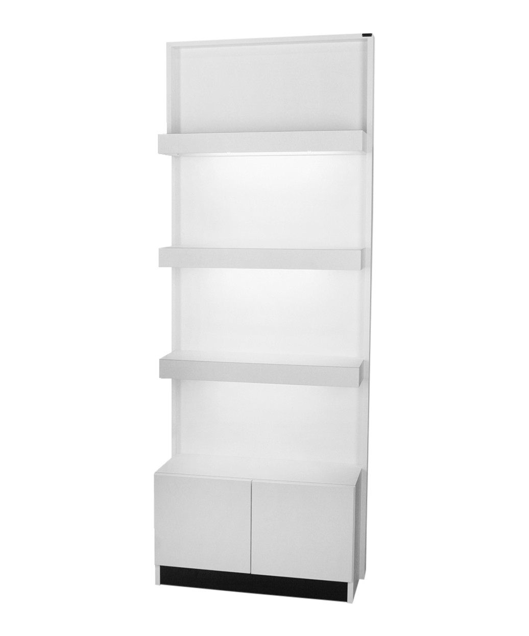 6649-32 Zada Retail Display with Lights and Storage